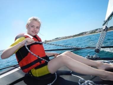 Kid Sailing wit Fun Algarve Lagos