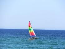 sailing one way 10 KM