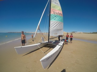 Sailing Lagos Hobie Cat 18